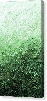 Autumn Sunrise - Jade Canvas Print by Julie Turner