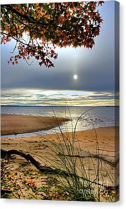Autumn Sunrise On The James Canvas Print