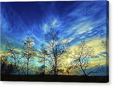 Autumn Sunset Canvas Print by ABeautifulSky Photography