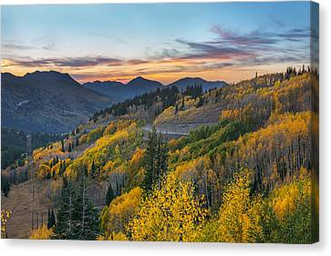 Autumn Sunset At Guardsman Pass, Utah Canvas Print