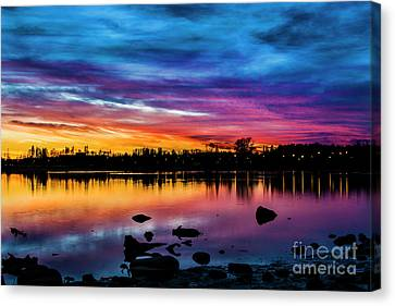 Autumn Sunset Canvas Print by James Brown