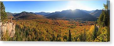 Autumn Sunset Over The Pemi Canvas Print