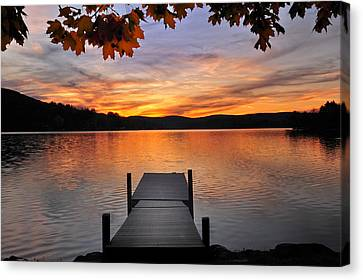 Autumn Sunset Canvas Print by Thomas Schoeller