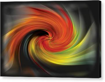 Lightning Decorations Canvas Print - Autumn Swirl by Debra and Dave Vanderlaan