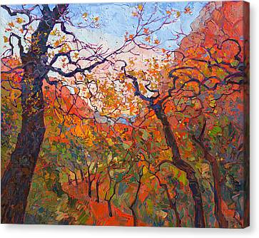 Southern Utah Canvas Print - Autumn Tapestries by Erin Hanson