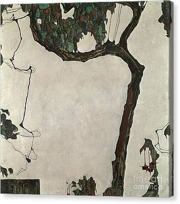 1918 Canvas Print - Autumn Tree by Egon Schiele