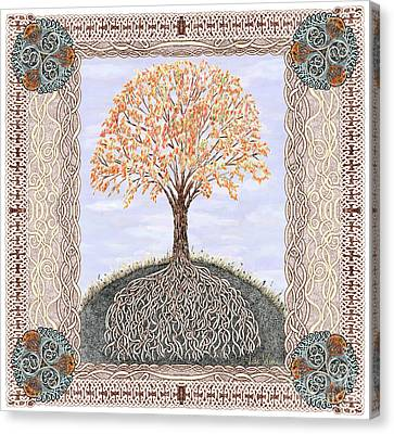 Autumn Tree Of Life Canvas Print by Lise Winne