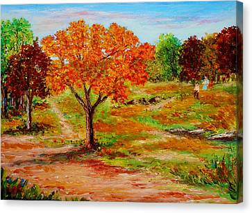 Autumn Trees Canvas Print by Constantinos Charalampopoulos