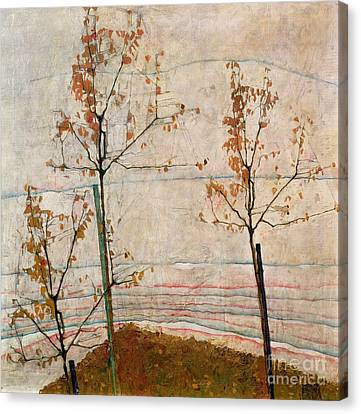 1890 Canvas Print - Autumn Trees by Egon Schiele