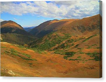 Autumn Valley From The Top Of Trail Ridge Road Canvas Print