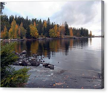 Canvas Print featuring the photograph Autumn View 2 by Sami Tiainen