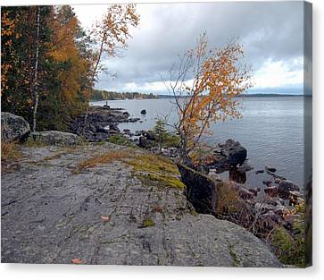 Canvas Print featuring the photograph Autumn View 4 by Sami Tiainen
