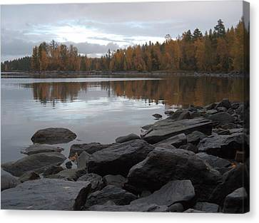 Canvas Print featuring the photograph Autumn View 6 by Sami Tiainen