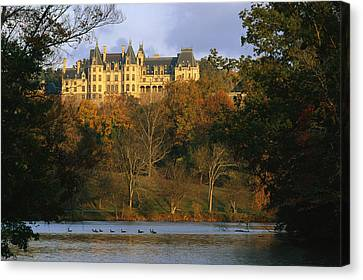 Southern States Canvas Print - Autumn View Of The Biltmore by Melissa Farlow