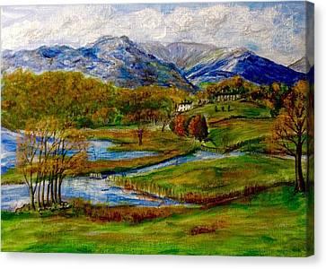 Autumn View Of The Trossachs Canvas Print