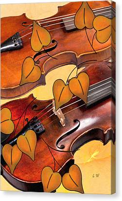 Autumn Violins Canvas Print by L Wright