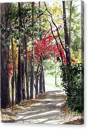Autumn Walk Canvas Print by Carla Dabney