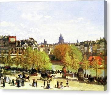 Autumn Walk On The Promenade Canvas Print