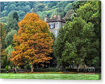 Autumn Walkers Canvas Print by Adrian Evans