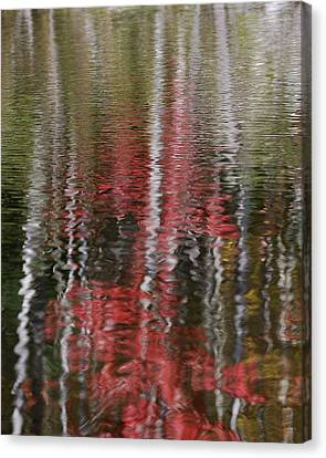 Canvas Print featuring the photograph Autumn Water Color by Susan Capuano