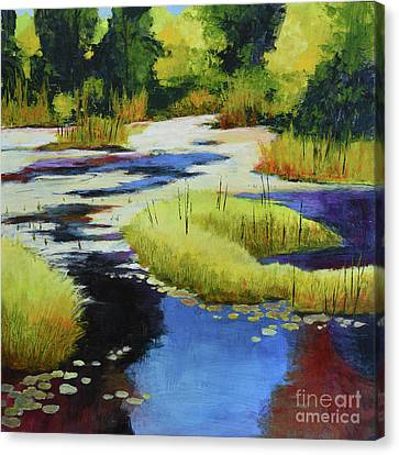 Autumn Water Garden 2 Canvas Print