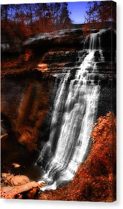 Autumn Waterfall 3 Canvas Print by Kenneth Krolikowski