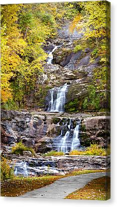 Autumn Waterfall Canvas Print by Brian Caldwell