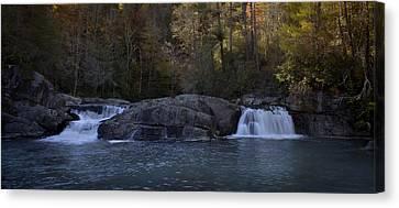 Canvas Print featuring the photograph Autumn Waterfall  by Ellen Heaverlo