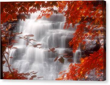 Autumn Waterfall I Canvas Print by Kenneth Krolikowski