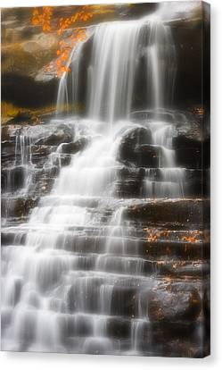 Autumn Waterfall II Canvas Print by Kenneth Krolikowski
