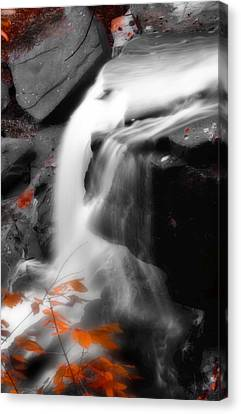 Autumn Waterfall Iv Canvas Print by Kenneth Krolikowski