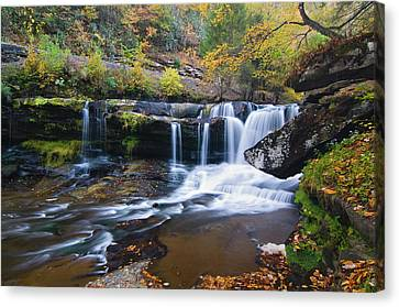 Canvas Print featuring the photograph Autumn Waterfall by Steve Stuller