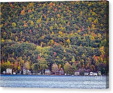 Autumn Waterside Canvas Print