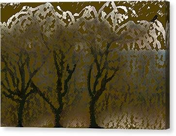 Aesthetic Landscape Image Canvas Print - Autumn Weeps by Debra     Vatalaro