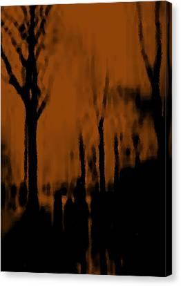 Canvas Print featuring the digital art Autumn Wet Day by Dr Loifer Vladimir