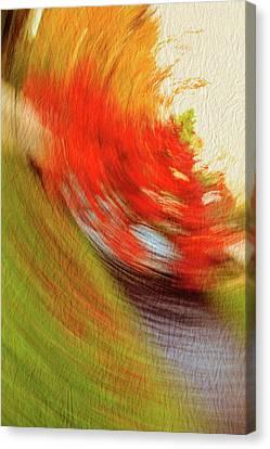 Abstact Landscapes Canvas Print - Autumn Whirl In The Lichtentaler Allee. Baden-baden. 3.  by Gerlya Sunshine
