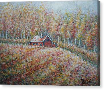 Canvas Print featuring the painting Autumn Whisper. by Natalie Holland