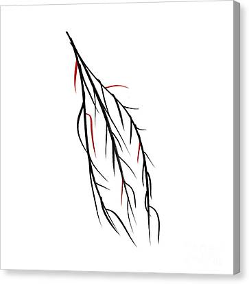 Red Leaf Canvas Print - Autumn Willow by Konstantin Sevostyanov