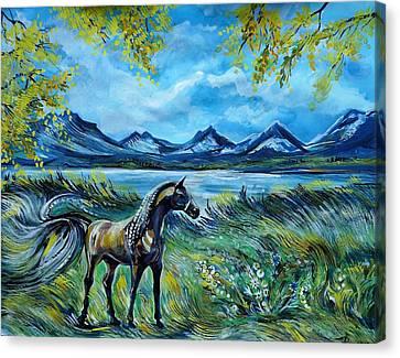 Autumn Wind Canvas Print by Anna Duyunova