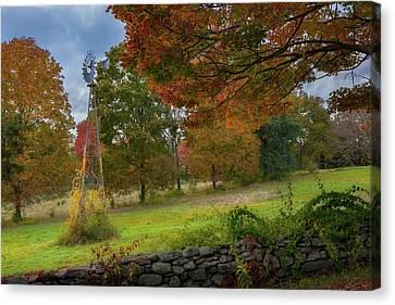 Autumn Windmill Canvas Print