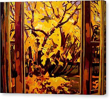 Autumn Window Canvas Print by Tim  Heimdal