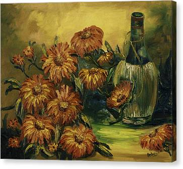 Canvas Print featuring the painting Autumn Wine by Rebecca Kimbel