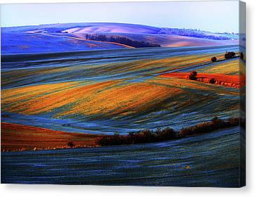 Autumn Winter. Moravian Tuscany Canvas Print by Jenny Rainbow