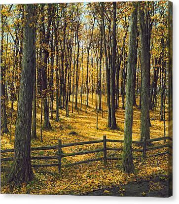 Lake Geneva Wisconsin Canvas Print - Autumn Woodland by Doug Kreuger