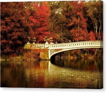 Autumnal Bow Bridge  Canvas Print by Jessica Jenney