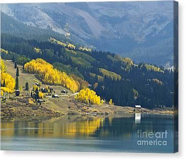 Autumnal Colours At Trout Lake Canvas Print