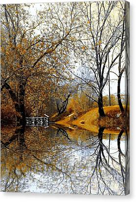 Canvas Print featuring the photograph Autumnal by Elfriede Fulda