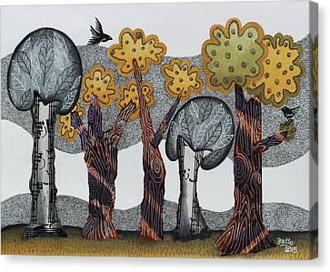Autumnal Grove  Canvas Print by Graciela Bello