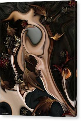 Silver Canvas Print - Autumnal Material by Carmen Fine Art