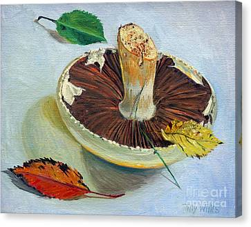 Mushroom Canvas Print - Autumnal Still Life, by Tilly Willis